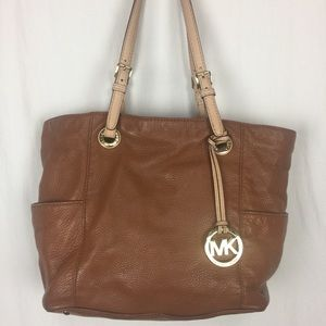 Michael Kors medium brown large tote shoulder bag